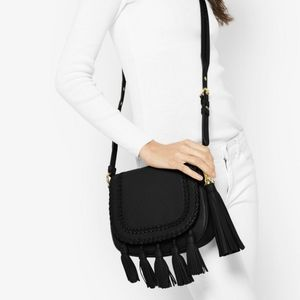 NWOT Michael Kors Black Crossbody with Tassels